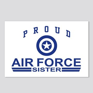 Proud Air Force Sister Postcards (Package of 8)