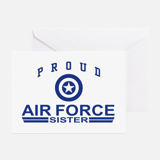 Proud Air Force Sister Greeting Cards (Pk of 10)