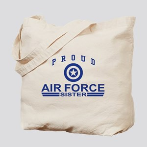 Proud Air Force Sister Tote Bag