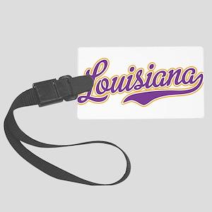Louisiana Royal Purple and Gold-01 Luggage Tag