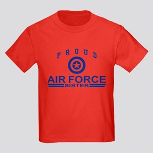 Proud Air Force Sister Kids Dark T-Shirt
