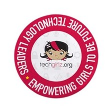 "Techgirlz 3.5"" Button"