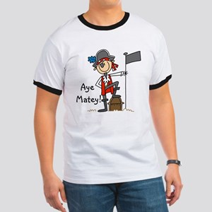 Aye Matey Pirate Ringer T