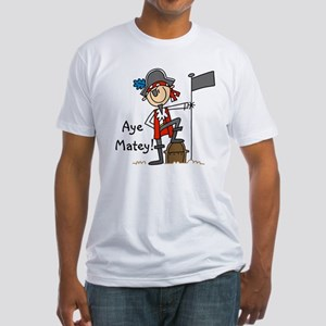 Aye Matey Pirate Fitted T-Shirt
