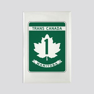 Trans-Canada Highway, Manitoba Rectangle Magnet