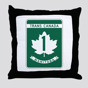 Trans-Canada Highway, Manitoba Throw Pillow