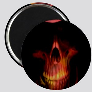 Glowing red grim reaper Magnets