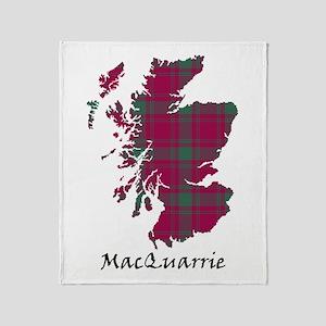 Map-MacQuarrie Throw Blanket