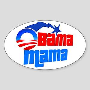 Obama Mama Oval Sticker