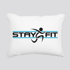 Stay Fit Rectangular Canvas Pillow