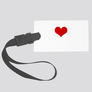 Music Headphones Love Large Luggage Tag