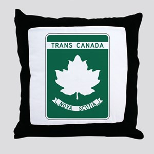 Trans-Canada Highway, Nova Scotia Throw Pillow