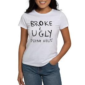 Broke Blk Font T-Shirt