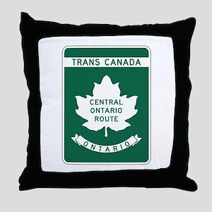Trans-Canada Highway, Ontario Throw Pillow