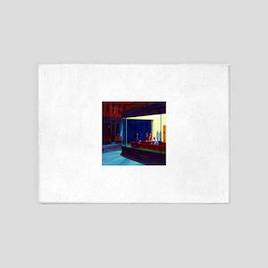 Edward Hopper Nighthawks 5'x7'Area Rug