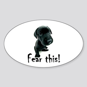 ~Fear This~ Oval Sticker