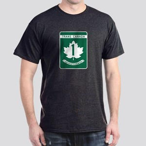 Trans-Canada Highway, Saskatchewan Dark T-Shirt
