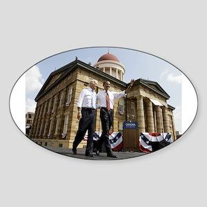 Obama & Biden Oval Sticker