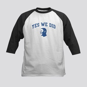 Yes We Did (Obama Face) Kids Baseball Jersey