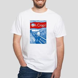 Oh Crap Obama Scream White T-Shirt