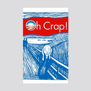 Oh Crap Obama Scream Rectangle Sticker