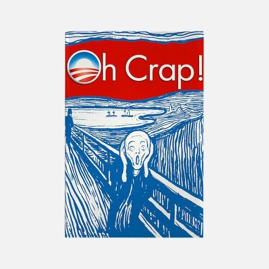 Oh Crap Obama Scream Rectangle Magnet