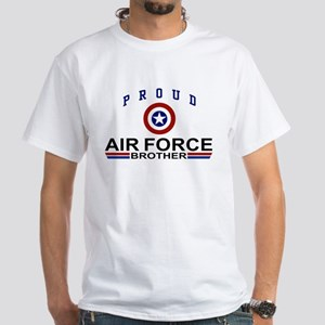 Proud Air Force Brother White T-Shirt