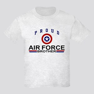 Proud Air Force Brother Kids Light T-Shirt