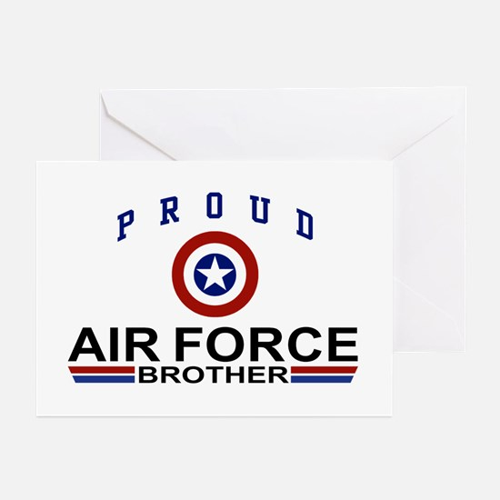 Proud Air Force Brother Greeting Cards (Pk of 10)