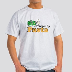 Powered By Pasta Funny Runner Light T-Shirt
