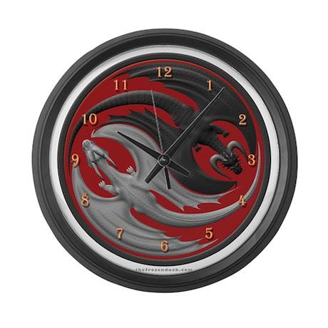 Dragon Yin Yang Large Wall Clock