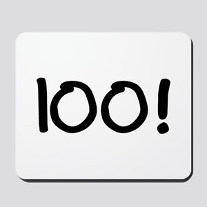 100! Mousepad