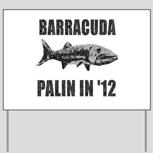 Sarah Palin Barracuda Vintage Yard Sign