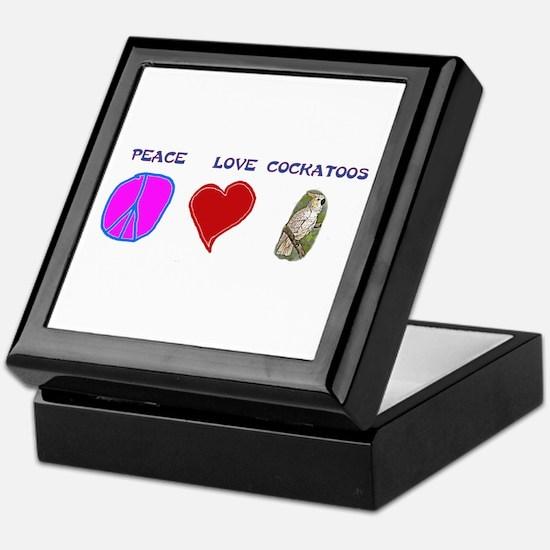 Peace Love Cockatoos Keepsake Box