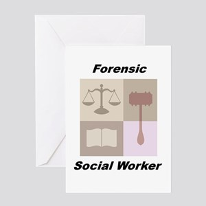 Forensic Social Worker Greeting Card