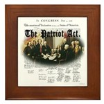 Patriot Act Framed Tile