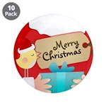 """Birdie's Merry Christmas 3.5"""" Button (10 pack"""