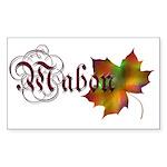 Mabon Autumn Rectangle Sticker