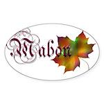 Mabon Autumn Oval Sticker