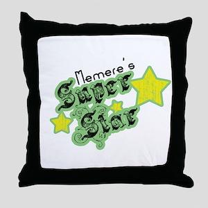Memere's Super Star Throw Pillow