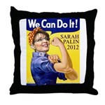 Sarah Palin We Can Do It Throw Pillow