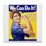 Sarah Palin We Can Do It Tile Coaster