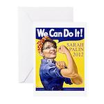 Sarah Palin We Can Do It Greeting Cards (Pk of 10)