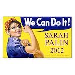 Sarah Palin We Can Do It Rectangle Sticker 50 pk)