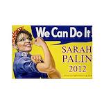 Sarah Palin We Can Do It Rectangle Magnet (10 pack