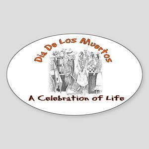 A Celebration of Life Oval Sticker