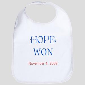 Hope Won Baby Bib