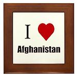I Love Afghanistan Framed Tile