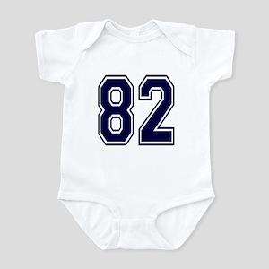 NUMBER 82 FRONT Infant Bodysuit