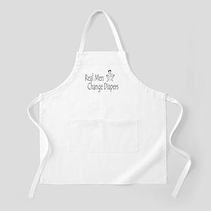 d6da45a6dd71 Real Men Change Diapers BBQ Apron